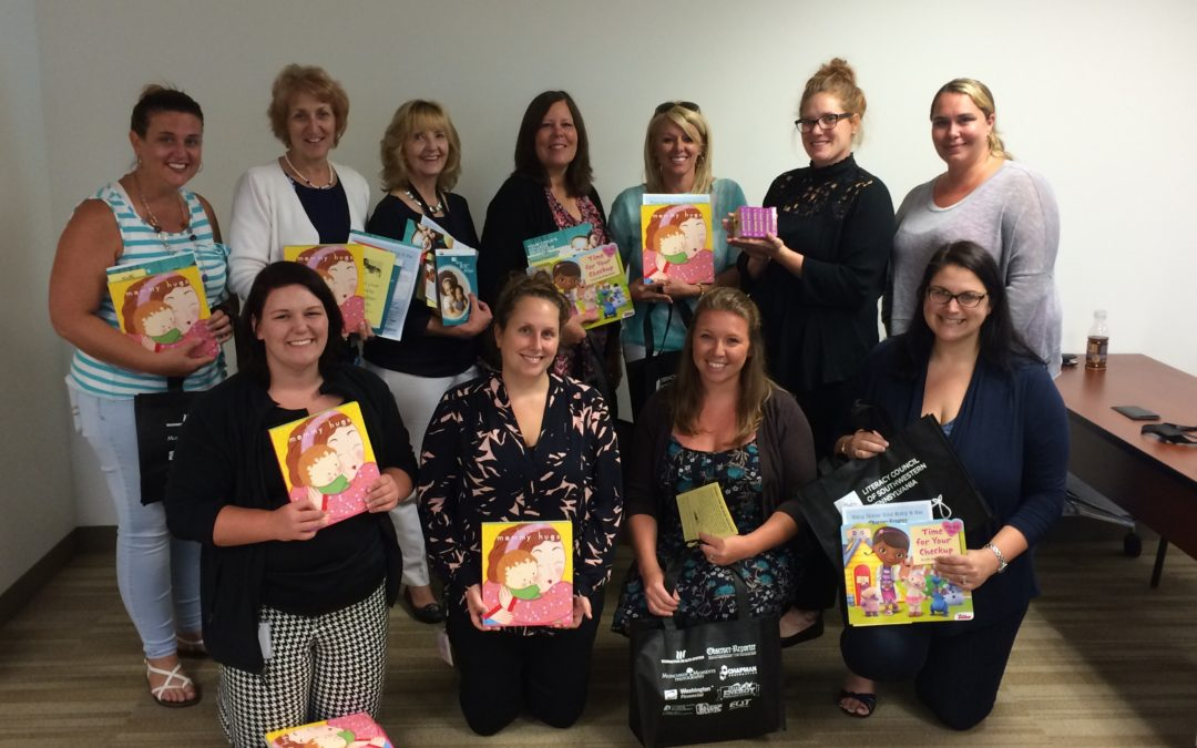 Thank you Women in Energy, an EQT Corporation employee resource group who assembled 300 Baby Book Bags!